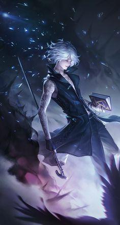Fantasy Art Men, Anime Fantasy, Fantasy Artwork, Fantasy Character Design, Character Inspiration, Character Art, Ahri Wallpaper, Mago Anime, Davil May Cry