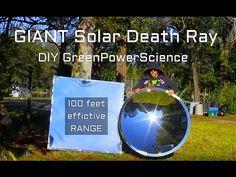 "Solar Death Ray 10,000 suns 48"" DIY Giant Archimedes Parabolic Mirror Reflector - YouTube"
