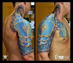 Incredible armor 3D tattoo
