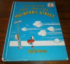 Dr. Seuss 1937 Book Club Edition And To Think That I Saw it On Mulberry Street $29.00 by heritagegeneralstore #vintage #childrens #books #DrSeuss #Seuss