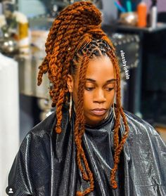 Image may contain: 1 person, closeup Dreads Styles For Women, Curly Hair Styles, Natural Hair Styles, Natural Hair Accessories, Dyed Dreads, Dreads Girl, Dreadlock Hairstyles, Cool Hairstyles, Black Hairstyles