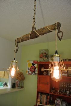 Handmade/Upcycled Vintage Barn Yoke Hanging by SemiUrbanCollector