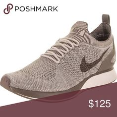 Nike Men's Air Zoom Mariah Flyknit Racer Running Brand new great gift cream & brown Nike Shoes Sneakers