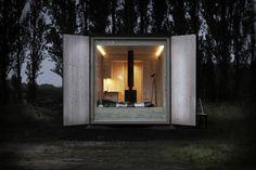 rchitecture makette, architecture model, cabin, architecture, ark shelter, shelter, visualization, mobile architecture, cottage, container