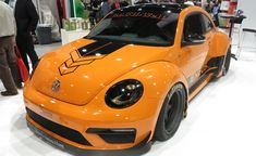 Wide Body VW Beetle Shines At SEMA. For more, click http://www.autoguide.com/auto-news/2014/11/wide-body-vw-beetle-shines-sema.html