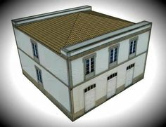Galician Two Storey Building Paper Model - by Edifícios De Papel - == -  This is the Galician Two Storey Building, in Spain. It was created by Spanish designers Mónica and Anibal, from Edifícios de Papel website. This nice paper model is available in 6 different scales: 1/56 scale(28mm), 1/72 scale, HO scale (1/87), 1/100 scale (15mm), N scale (1/160) and Z scale (1/220). Perfect for Dioramas, RPG and Wargames.