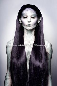 NICOR, The Shapeshifting Water Spirit Beatriz Mariano on Behance Makeup Fx, Alien Makeup, Witch Makeup, Demon Makeup, Halloween Makeup Games, Halloween Makeup Looks, Halloween Parties, Galaxy Makeup, Pretty Halloween