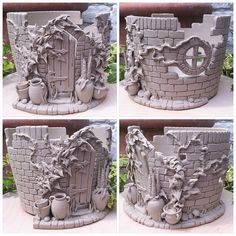 'Secret walled garden' yarn bowl. Unfired. Made from thrown and modelled white earthenware. Whilst this one is made for our competition winner ..this design will be a made to order item once glazed in...