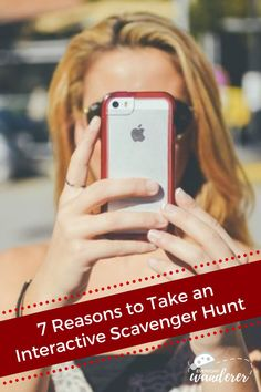 An interactive scavenger hunt is a scavenger hunt using cell phone. It makes exploring fun, whether it's a scavenger hunt around town or a scavenger hunt party like a scavenger hunt birthday party, scavenger hunt bachelorette party, scavenger hunt date night, or scavenger hunt pub crawl. #scavengerhunt