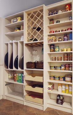 Kitchen Pantry Storage, Pantry Room, Kitchen Pantry Design, Pantry Shelving, Kitchen Pantry Cabinets, Storage Cabinets, Home Decor Kitchen, Kitchen Furniture, Home Kitchens