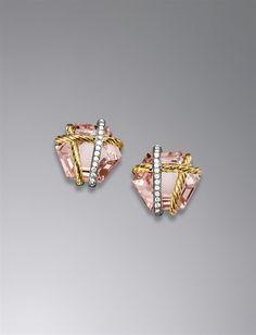 David Yurman Cable Wrap Earring Morganite 14mm. Wedding Jewelry. #LillyPulitzer #SouthernWeddings