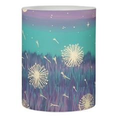 #Dandilion Wishes Home Decor Flameless Candle - #candle #candles #special #custom