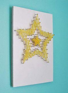 Star Art / Custom String Art  / Custom Wall Art / by SayMyNameShop, $40.00