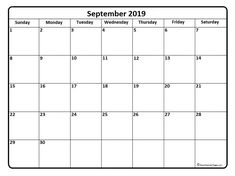 15 Exciting Free September 2019 Calendar Pdf Printable Templates Images