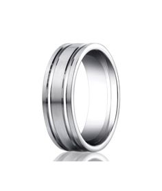 White gold grooved comfort fit men's & women's wedding bands crafted with satin finish. The thickness of this ring is about Womens Wedding Bands, Wedding Men, Dream Wedding, Wedding Ideas, White Gold Wedding Bands, Wedding Rings, Wedding Stuff, Platinum Wedding, Jewelry