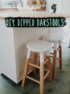 DIY Paint Dipped Barstools Tutorial TWO FOR UNDER $35! (from Target) #homesweetlove #dipped