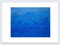"""Persistencia de la Irrealidad: Serie """"Cielos, Ríos y Mares"""". obra en acrílico y lápiz sobre tela. Medidas: 36 x 46 centímetros."""