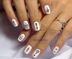 30 Super Nail Art Ideas for Short Nails 2019 Stylish Nail Art Nagel Modelle Acrylic Nails Natural, Best Acrylic Nails, Acrylic Nail Designs, Nail Art Designs, Nail Art Ideas, Minimalist Nails, Stylish Nails, Trendy Nails, Nagellack Design