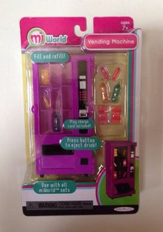 MiWorld Vending Machine Playset Mini Miniature Mi World  Jakks Pacific New #JakksPacific