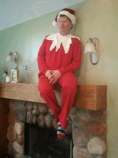 Human Elf-On-The-Shelf #HalloweenCostume