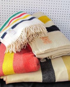 Hudson Bay Blankets were Often Traded to the Indians by the Mountain Men, and Taken to Rendezvous to trade for Furs.