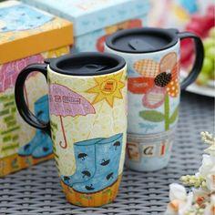 Elegant Creative Ceramic Couples Mug