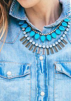 layered loren hope: Sylvia + Arista Petite necklaces