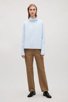 COS image 1 of A-line milano knit jumper in Powder Blue
