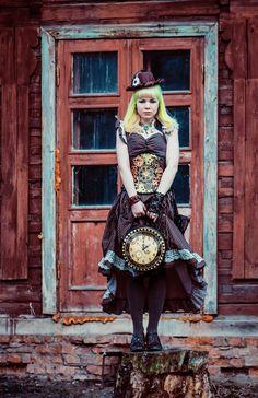 Steampunk Lady 4 by 13-Melissa-Salvatore.deviantart.com on @deviantART