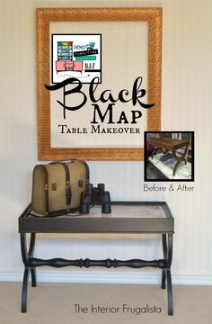 Black Old World Map Coffee Table Makeover | The Interior Frugalista