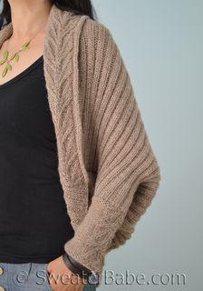 #191 Tabitha Cocoon Cardigan PDF Knitting Pattern #knitting #SweaterBabe.com