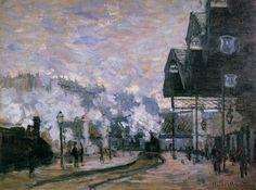 Claude Monet (1840-1926). Saint-Lazare Station, the Western Region Goods Sheds, 1877. Serie Estación de Saint Lazare.