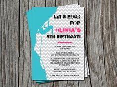 Rock Climbing for Girls Birthday Party Invitation by ATimeAndPlaceDesign, $12.00