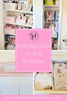 Today I'm sharing my nursery organization tips. Back when I was nesting preggo, I became obsessed with how the nursery would be laid out and organized. Yet, I found this task to be overwhelmingly…More Playroom Organization, Organization Hacks, Playroom Ideas, Nursery Room, Girl Nursery, Baby Room, Baby Kids Wear, Nursery Storage, Nursery Inspiration
