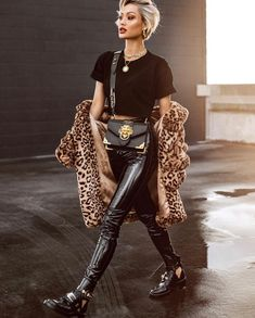 'Dolce' High Waisted Skinny Pants in Vinyl Effect
