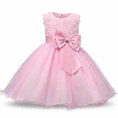 MITIY Baby Girls Infant Kid Solid Flower Printing Casual Layer Tutu Princess Dress Clothes