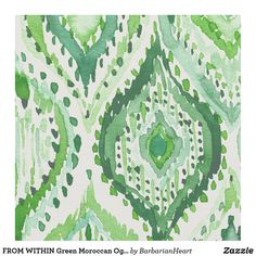 FROM WITHIN Green Moroccan Ogee Fabric Bohemian Fabric, Sewing Projects, Diy Projects, Consumer Products, Spring Green, Craft Party, Pigment Ink, Custom Fabric