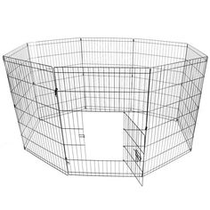 "Pet Playpen Foldable 24"" Metal Wire 8 Panels Puppy Playpen Exercise for Dogs, Cats, Rabbit and Guinea Pig"