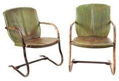 Garden Chairs, Pair