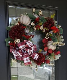 Elegant Fall Wreaths, Fall Mums, Owl Wreaths, Poinsettia Wreath, Fall Decor, Holiday Decor, Pumpkin Wreath, Season Colors, Grapevine Wreath
