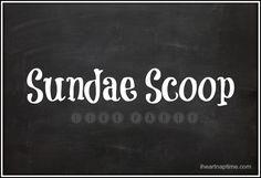 Sundae Scoop Link Party is up iheartnaptime.net