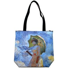 WOMAN with PARASOL Claude MONET Fine Art Bag Purse Messenger Tote S or L New PN #PN #Tote #Monet #Impressionist #Art #Purse #Bag