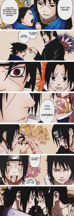 No matter what happens to you from here on out, I will always love you. Itachi and Sasuke through the years. #Naruto