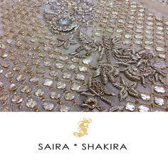 """Sneak a peek! Some details are not to be missed.  #BridalSeason #BridalCollection #SairaShakira"""