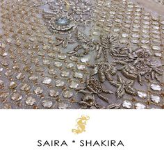 """Sneak a peek! Some details are not to be missed.  #BridalSeason #BridalCollection #SairaShakira"""
