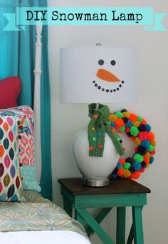 DIY Snowman Lamp @ DaisyMaeBelle