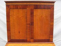 The desk has a very nice interior with 8 cubbies over 4 privacy drawers with valance moldings and a flip out writing desk supported by loafers. The secondary woods are old growth single plank native New England red pine. | eBay!