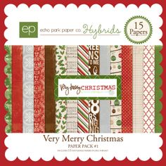 Grabbed up this kit for the $1 sale today - perfect for December Daily!  Deck the halls in style with this stunning Christmas collection. This kit includes 15 patterned papers in JPEG format.