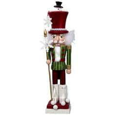 Amazon.com: Hollywood Nutcrackers Kurt Adler 18-Inch Hollywood Snowman Hat Nutcracker