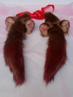 Raphtalia ears and tail, Crystal Raphtalia Wolf Ears And Tail, Pine Marten, Bear Ears, Fabric Headbands, Anime Wolf, Animal Costumes, Animal Ears, Suede Fabric, Fursuit